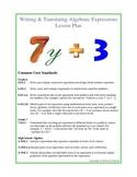 Writing & Translating Algebraic Expressions Lesson Plan