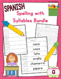 Writing Words: Spelling Syllable by Syllable BUNDLE (Spanish)