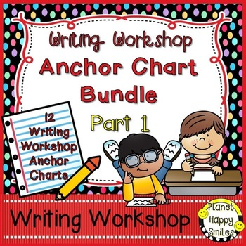 Writing Workshop Anchor Chart Bundle ~ Part 1
