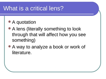 steps to writing a critical lens essay