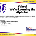 Yahoo! We're Learning The Alphabet Song(Mp3), Lesson Mater