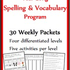 Year Long Set of Differentiated Word Work & Vocabulary Packets