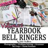 Yearbook Class 100 Days of Bell Ringer Class Starter Activities