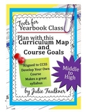 Yearbook Class Curriculum Map with Course Goals for Planning