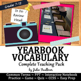 Yearbook Vocabulary Teaching Pack, PPT, Interactive Notebo