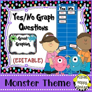 Yes/No Graph Questions in a Monster Theme
