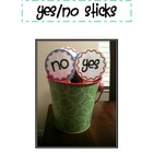Yes/No Sticks