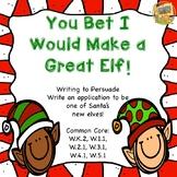 Christmas - You Bet I Would Make a Good Elf!  Writing to P