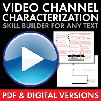 YouTube Characterization, Fun Writing Activity, Use with ANY Lit., Grades 6-12