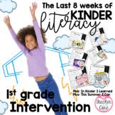 End of Kinder/1st gr. Intervention: Fluency, Writing, Art