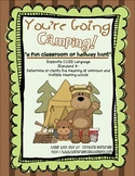 You're Going Camping- Classroom or Hallway Homophone Hunt