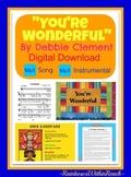 """You're Wonderful"" Digital Download of Song of Self Esteem"