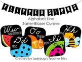 ZB Cursive Alphabet Line (Flipped Signs)
