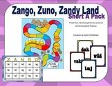 Zango, Zuno, Zandy Land - Short A Nonsense Words