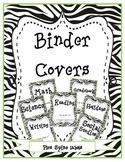 Zebra Binder Covers with binder spines