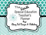Editable Special Education Teacher's Planner {Chevron Turq