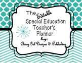 Editable Special Education Teacher's Planner (Chevron Turq