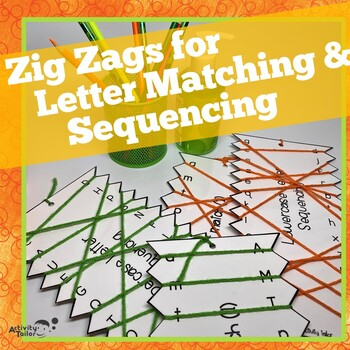 Zig Zags FREEBIE for Upper and Lowercase Letter Matching