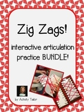 Zig Zags for Articulation BUNDLE!
