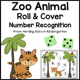 Zoo Animal Roll & Cover Number Recognition Games!
