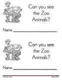 Zoo Animals Emergent Leveled Reader