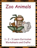 Zoo Animals Worksheets and Crafts