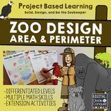 Zoo Design: Area, Perimeter, Map Skills, Project Based Lea