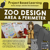 Zoo Design: Area, Perimeter, Map Skills, Project Based Lea