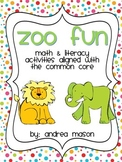 Zoo Fun!  Math & Literacy Activities aligned with the Common Core