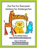 Zoo Fun for Everyone ~ Centers for Kindergarten