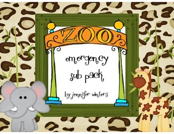Zoo Themed Emergency Sub Pack