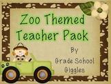 Zoo Themed Teacher Organization Pack