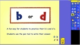b or d Flipchart for Activboard or Smartboards