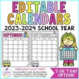 behavior calendars {editable!} 2015-2016