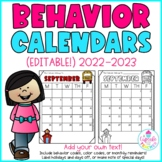 Behavior Calendars {Editable!} 2015-2016