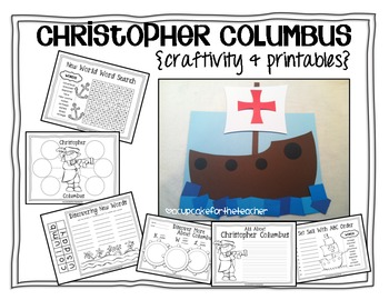 christopher columbus {craftivity & printables}