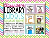 classroom library labels {chevron theme}