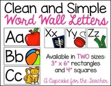 clean and simple word wall letters