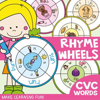 cvc Word Rhyme Wheels