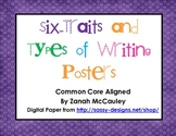 Six Trait and Types of Writing Posters