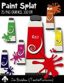 Paint Splat Clip Art ~ CU OK ~ Colors