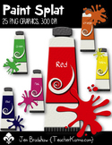 Paint Splat Clip Art ~ CU OK ~ Colors
