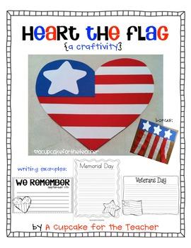 heart the flag {a craftivity}