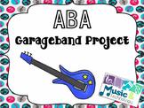 iPad GarageBand ABA Composition Project