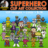 superhero clip art collection: ALPHABET AND NUMBERS... and