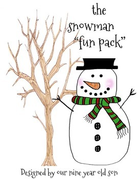 """Snow Day Activity: The snowman """"fun Pack""""- (Created by our"""